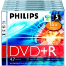 DVD+R PHILIPS 16x 5 pack Jewel Case